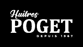 Logo blanc Huîtres Poget