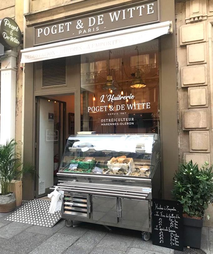 Façade Huîtrerie POGET DE WITTE PARIS